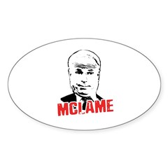McLame Oval Decal
