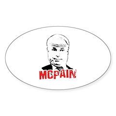 McPain Oval Decal