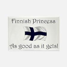 Finnish Princess Rectangle Magnet