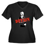 Detain McCain Women's Plus Size V-Neck Dark T-Shir