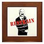 Restrain McCain Framed Tile