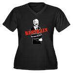 Restrain McCain Women's Plus Size V-Neck Dark T-Sh