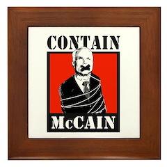 Contain McCain Framed Tile