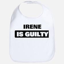 IRENE is guilty Bib