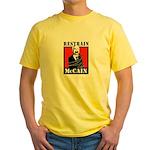 RESTRAIN MCCAIN Yellow T-Shirt