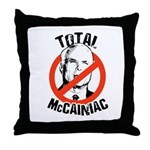 Anti-McCain: McCainiac Throw Pillow