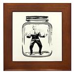 Contain John McCain (in a jar) Framed Tile