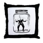 Contain John McCain (in a jar) Throw Pillow