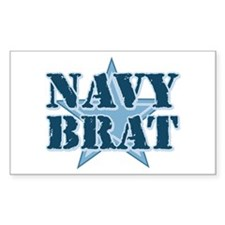 Navy Brat Rectangle Decal