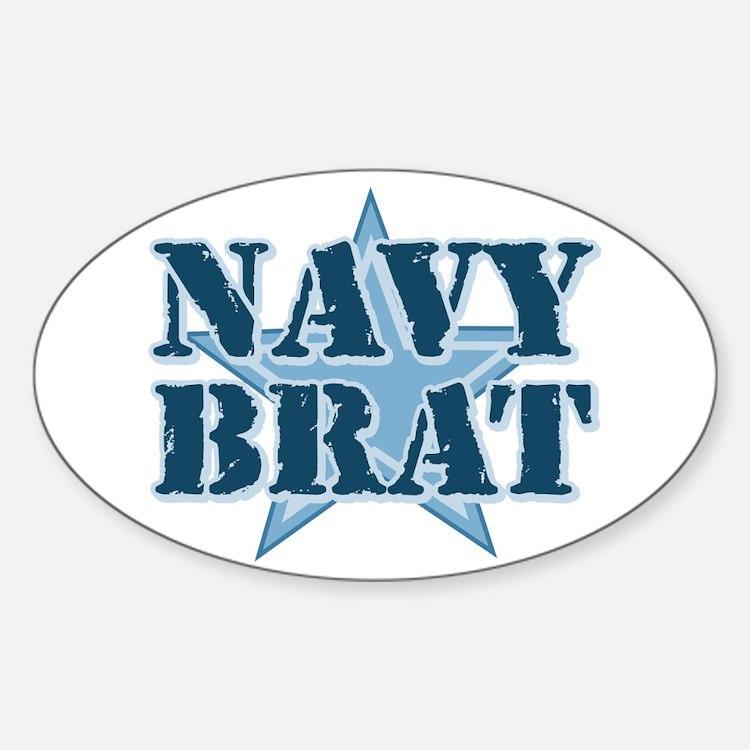 Navy Brat Oval Decal