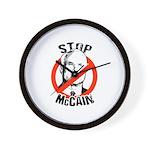 STOP MCCAIN Wall Clock