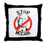 STOP MCCAIN Throw Pillow