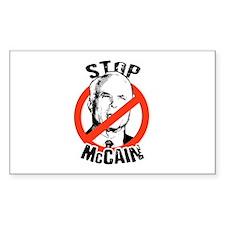 STOP MCCAIN Rectangle Decal