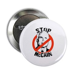 "STOP MCCAIN 2.25"" Button"