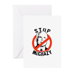 Anti-McCain: Stop McCrazy Greeting Cards (Pk of 10