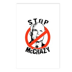 Anti-McCain: Stop McCrazy Postcards (Package of 8)