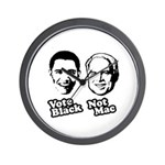 Vote Black. Not Mac. Wall Clock