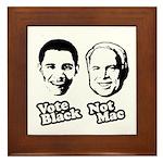 Vote Black. Not Mac. Framed Tile