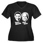 Vote Black. Not Mac. Women's Plus Size V-Neck Dark