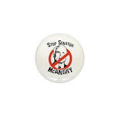 Anti-McCain: Stop Senator McAngry Mini Button (100