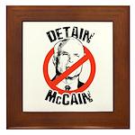 Anti-McCain: Detain McCain Framed Tile