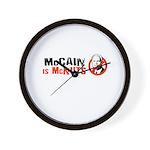 McCain is McNuts Wall Clock