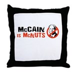 McCain is McNuts Throw Pillow
