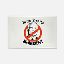 Retire Senator McAncient Rectangle Magnet (10 pack