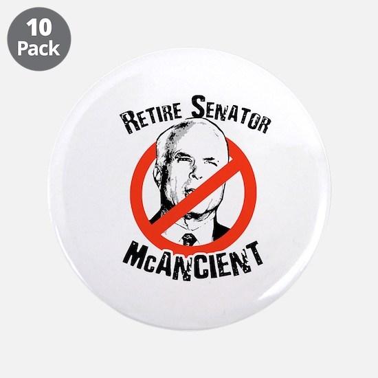 """Retire Senator McAncient 3.5"""" Button (10 pack)"""