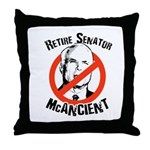 Retire Senator McAncient Throw Pillow