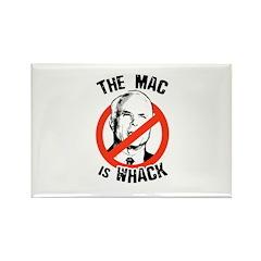 Anti-McCain: The Mac is whack Rectangle Magnet (10