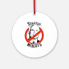 Anti-McCain: Senator McNuts Ornament (Round)