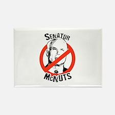 Anti-McCain: Senator McNuts Rectangle Magnet