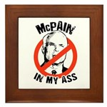 McPain in my ass Framed Tile