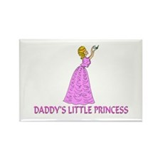 Daddy's Little Princess Rectangle Magnet