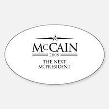 McCain 2008: The next McPresident Oval Decal