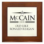 McCain 2008: Old like Ronald Reagan Framed Tile