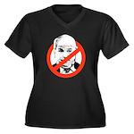 ANTI-MCCAIN Women's Plus Size V-Neck Dark T-Shirt