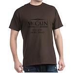McCain 2008: Less jobs, more wars Dark T-Shirt
