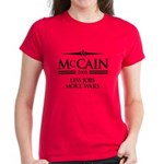 McCain 2008: Less jobs, more wars Women's Dark T-S