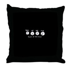 Faces of the moon Throw Pillow