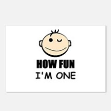 OH FUN I'M ONE Postcards (Package of 8)
