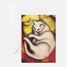 Cat on a Cushion by Franz Marc Greeting Card