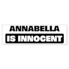 ANNABELLA is innocent Bumper Bumper Sticker