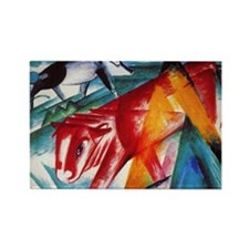 Calf and Pig by Franz Marc Rectangle Magnet