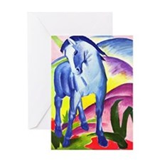 Blue Horse by Franz Marc Greeting Card