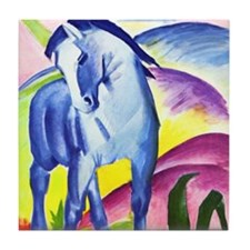 Blue Horse by Franz Marc Tile Coaster