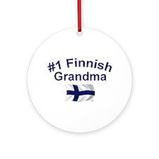 #1 Finnish Grandma Ornament (Round)