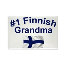#1 Finnish Grandma Rectangle Magnet