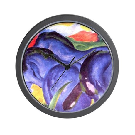 Blue Horses Wall Clock